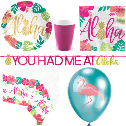Aloha Sommer - Premium Party-Set - Für 8 Personen