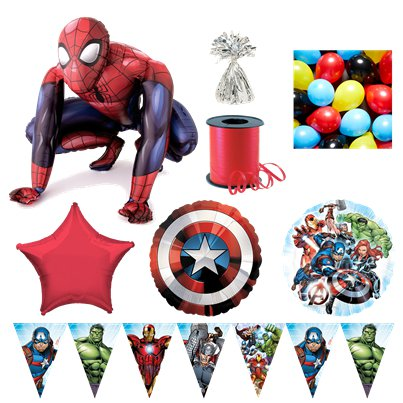 Avengers Spiderman Premium Ballon-Set