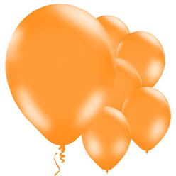 Orange Luftballons aus Latex 28cm