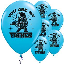 "Sar Wars ""You are My Father"" Luftballons aus Latex 28cm"