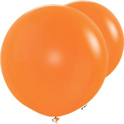 Orange Riesen-Ballons aus Latex 91cm