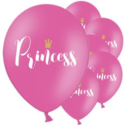 "Pinke ""Princess"" Prinzessinnen Luftballons aus Latex 30cm"