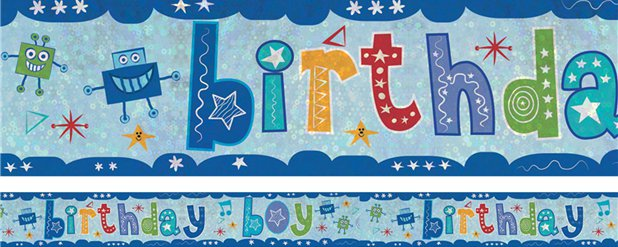 """Birthday Boy"" Folienbanner 2,7m"