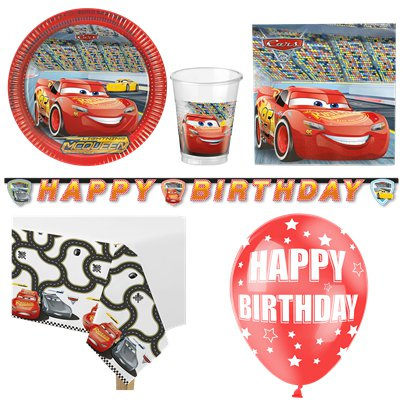 Disney Cars - Premium Party Deko Set - Für 8 Personen