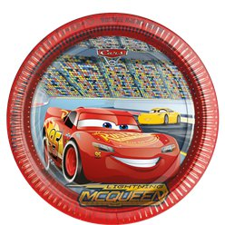 Disney Cars 3 - Pappteller 23cm