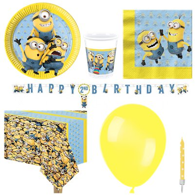 Minions - Premium Party Deko Set - Für 8 Personen