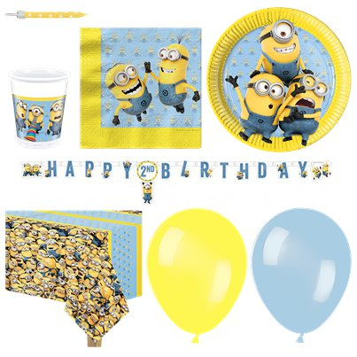 Minions - Premium Party Deko Set - Für 16 Personen
