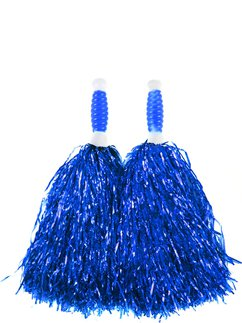 Blaue Cheerleader Pompons - Standard