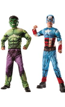 Premium 2-in-1 Hulk & Captain America - Kinderkostüm