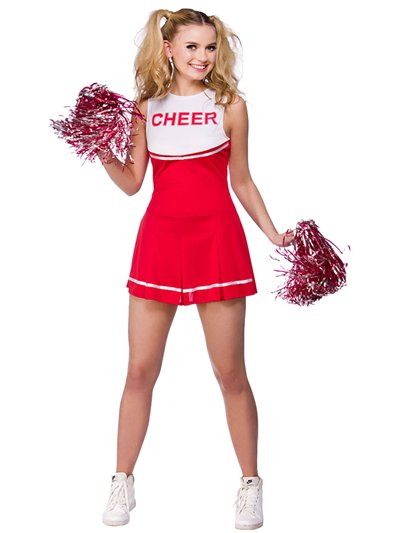 Roter High School Cheerleader - Erwachsenenkostüm