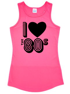 I Love the 80s Pinkes Tanktop