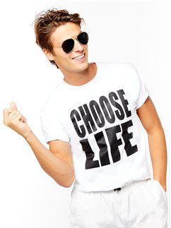 Weißes Choose Life T-shirt