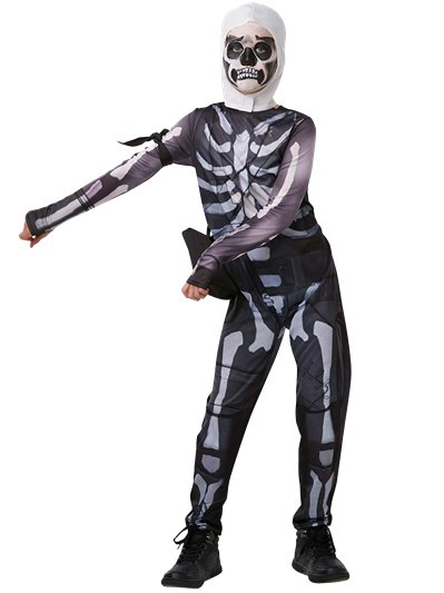 Fortnite Skull Trooper - Kinder- & Teenagerkostüm