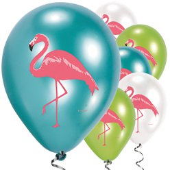Flamingo Paradies - Luftballons aus Latex 28cm