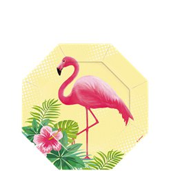 Flamingo Paradies - Pappteller 18cm