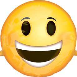 Emoji - Lachender Smiley Folienballon 99cm