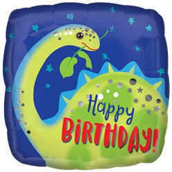 "Brontosaurus ""Happy Birthday"" Geburtstag Folienballon 46cm"