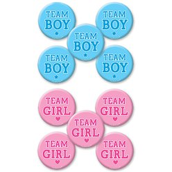 Gender Reveal Buttons Anstecker