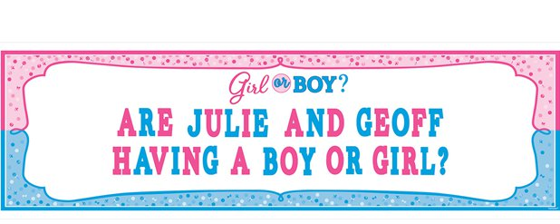 Gender Reveal Babyparty - Großer Banner