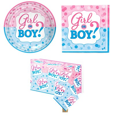 Gender Reveal - Party-Set - Für 8 Personen