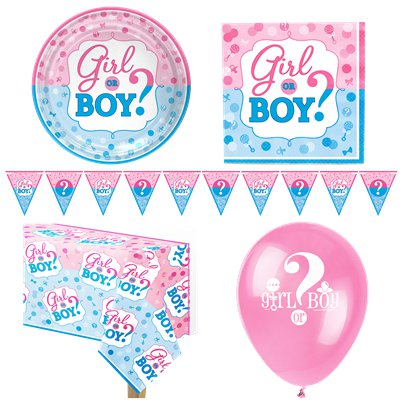 Gender Reveal - Premium Party-Set - Für 8 Personen