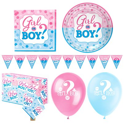 Gender Reveal - Premium Party-Set - Für 16 Personen