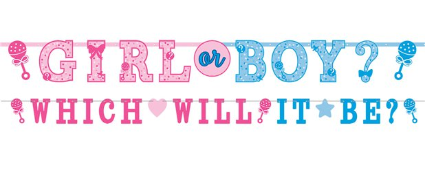 Gender Reveal - Buchstabenbanner-Set