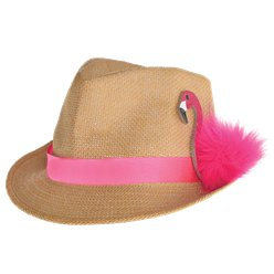 Fedora mit Flamingodetail