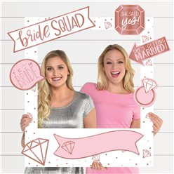 "Puderfarbener JGA - ""Bride Squad"" Photo Booth Foto-Requisiten Set"