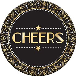 "Hollywood - ""Cheers"" Bierdeckel aus Pappe"