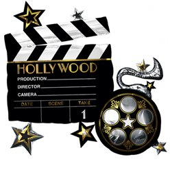 Hollywood Riesenfigur Folienballon 74cm