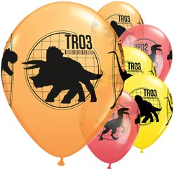 Jurassic World - Luftballons aus Latex 28cm