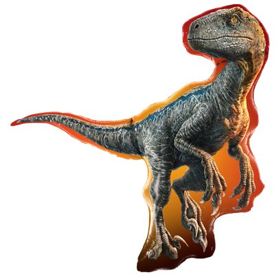 Jurassic World - Raptor Dinosaurier Folienballon 97cm