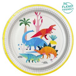 Kleiner Party-Dino - Pappteller 23cm