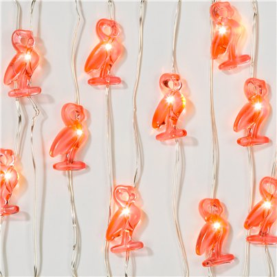 Fiesta Mini-Flamingo-Lichterkette 3m