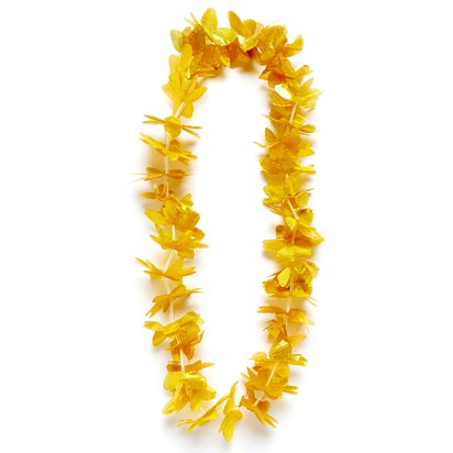 Goldene Hawaii-Blumenkette - Sommer Party Accessoires front