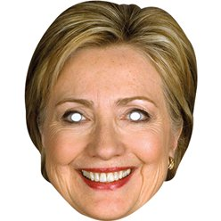 Hilary Clinton Pappmaske