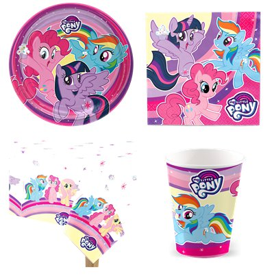 My Little Pony - Party Deko Set - Für 8 Personen