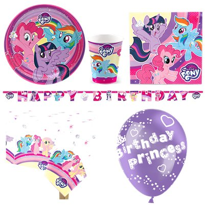 My Little Pony - Premium Party Deko Set - Für 8 Personen