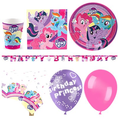 My Little Pony - Premium Party Deko Set - Für 16 Personen