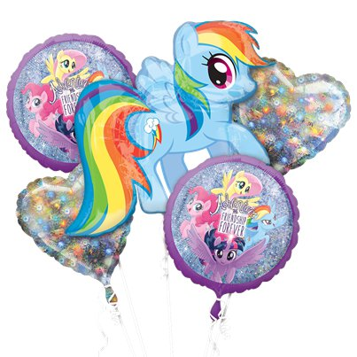 My Little Pony - Holographisches Ballon-Bouquet - Gemischte Folienballons