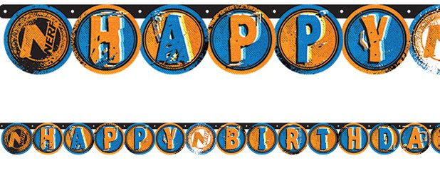 "Nerf Party - ""Happy Birthday""-Girlande 2,18m x 13,2cm"
