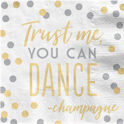 """Trust Me You Can Dance"" Servietten 33cm"