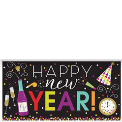"Bunter ""Happy New Year"" Silvester Banner 1,5m"