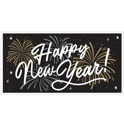 "Großer ""Happy New Year"" Banner 1,65m x 85cm"