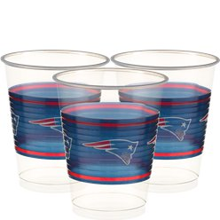 NFL American Football New England Patriots - Plastikbecher 455ml 25 Stück