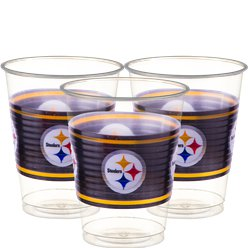NFL American Football Pittsburgh Steelers - Plastikbecher 455ml 25 Stück