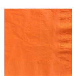 Orange Papierservietten 33cm 2-lagig