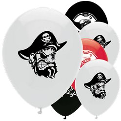 Piratenschatztruhe - Luftballons aus Latex 30cm
