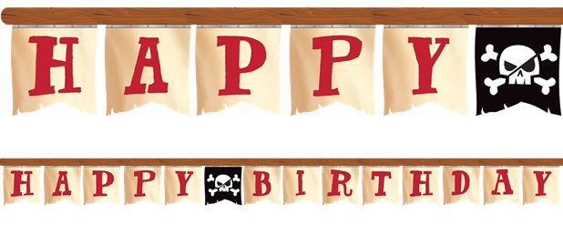 "Piratenschatzsuche - ""Happy Birthday"" Girlande 2,6m"
